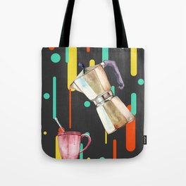 Coffee Pop Art Collage Good Morning Tote Bag