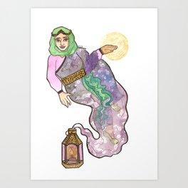 Genie Witch Art Print