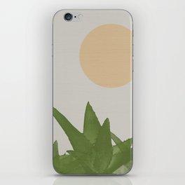 Aloe and moon iPhone Skin