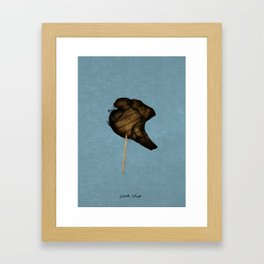 Pork Chop on a stick Framed Art Print