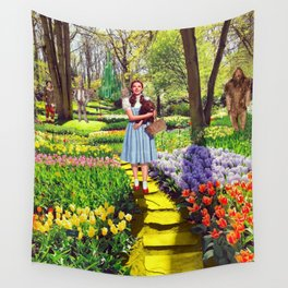 Follow the yellow brick road Wall Tapestry