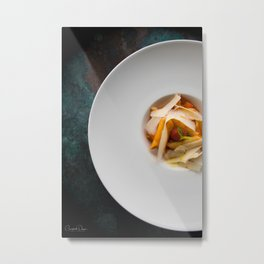 The Art of Food Pasta Heaven Metal Print