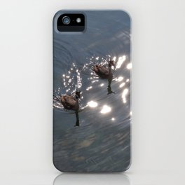 Together toward the light iPhone Case