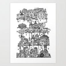 Four Tiers Art Print