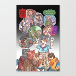 DnD Cats Canvas Print