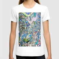 bathroom T-shirts featuring Venice Beach Bathroom Art by Kim Ramage