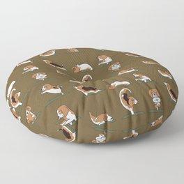 Beagle Yoga Floor Pillow