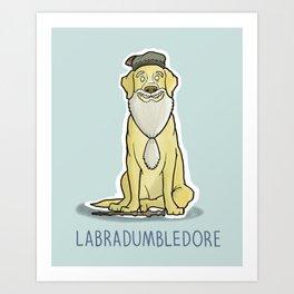 Labradumbledore Art Print