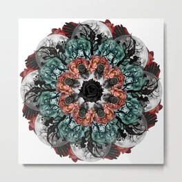scary fly mandala Metal Print