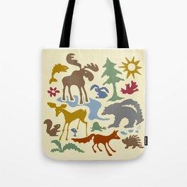 Woodland Animal Friends Tote Bag