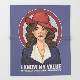 I Know My Value Throw Blanket
