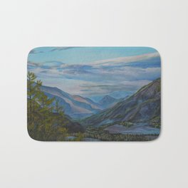 Evening in the mountains Bath Mat