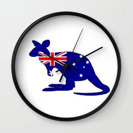 Australian Flag - Kangaroo Wall Clock