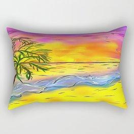 Sunset Beach Rectangular Pillow