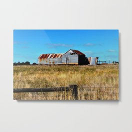 Old Dilapidated Farm Shed Metal Print