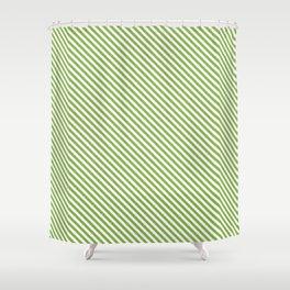 Greenery Stripe Shower Curtain