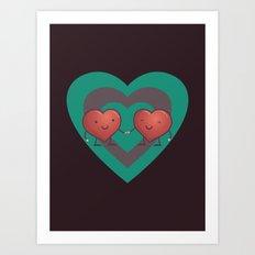 Heart 2 Heart Art Print