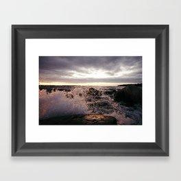 Angry Lake Framed Art Print