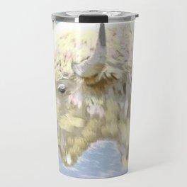 White buffalo calf Travel Mug