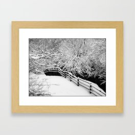 London Winter Storm 9c Bob Thin Framed Art Print