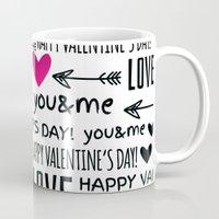lv Mugs featuring Saint Valentin Love LV by pepion