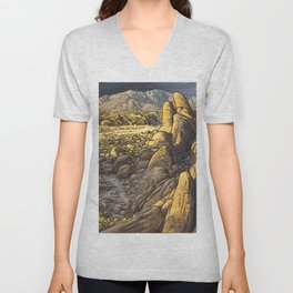 Rocky desert at sunset Unisex V-Neck