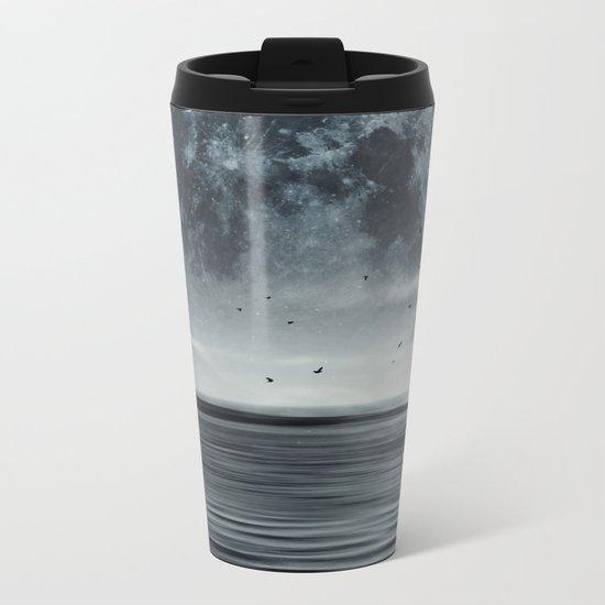 oceans of tranquility Metal Travel Mug