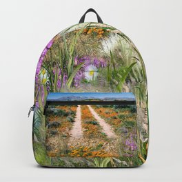 Wild Eco-friendly Native Grasses and Flowers in Spring Backpack