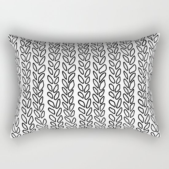 Knit Outline Zoom Rectangular Pillow
