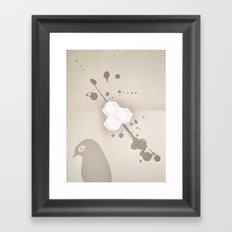 Sleepless Avian Framed Art Print