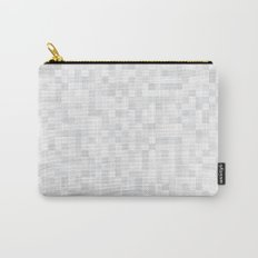 White Cubism Carry-All Pouch