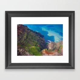 Na Pali Coast Detail, Kaua'i, Hawai'i Framed Art Print