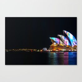 Composite image of Sydney Opera House at night Canvas Print