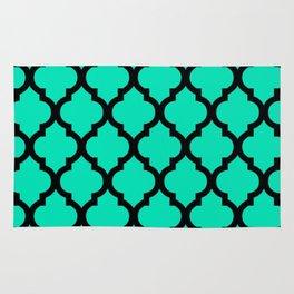 Moroccan Green Blue & Black Rug