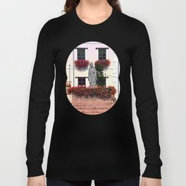 A saint and lots of flowers Long Sleeve T-shirt