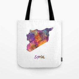 Syria in watercolor Tote Bag