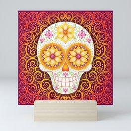 Sugar Skull Art by Thaneeya McArdle - Filigree Mini Art Print
