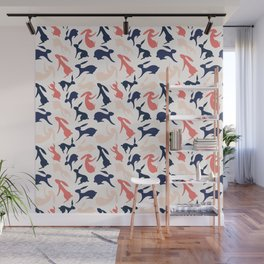 Abstract Rabbits Pattern Wall Mural