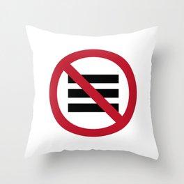 No Hamburger bar Throw Pillow