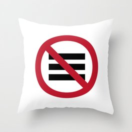 No Hamburger bar Throw Pillow