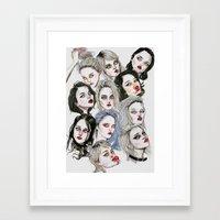 sky ferreira Framed Art Prints featuring Sky Ferreira Collage by Lucas David