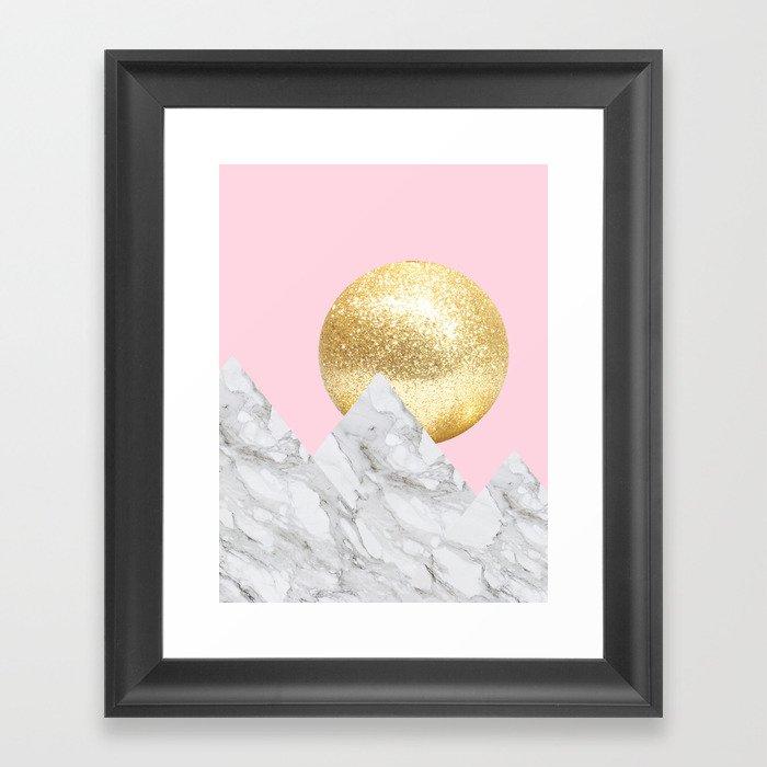 marble mountain Framed Art Print