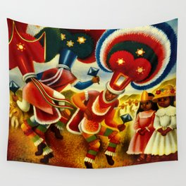 Oaxaca Mexico Vintage Travel Wall Tapestry