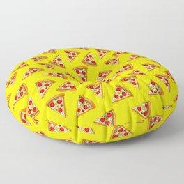Pizza Pattern Yellow Floor Pillow