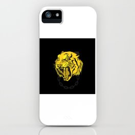 Golden tiger head cat of prey gift motive design iPhone Case