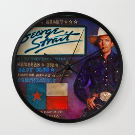 George Strait Wall Clock