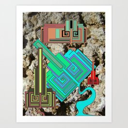 FUTURE FORMS OF EARTH (an adventure in neo-organics) Art Print