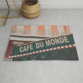 Cafe Du Monde. Coffee and Beignets Rug
