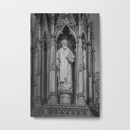 Archbishop Cranmer on the Marty's Memorial in Oxford England Metal Print