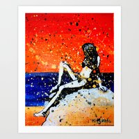 bikini Art Prints featuring Bikini by Khryztof